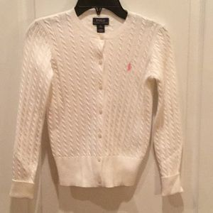 Ralph Lauren Polo Girls White Sweater